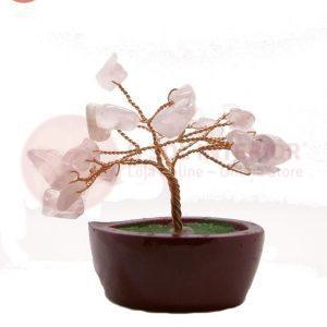 Árvore da Felicidade em Quartzo Rosa